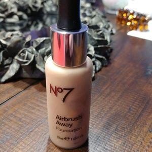 No 7 Airbrush Away Foundation ~~Latte ~~NEW